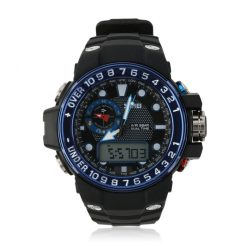 50M Waterproof Dual Model Watch With Compass - Blue