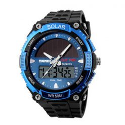 50M Waterproof Dual Mode Watch - Blue