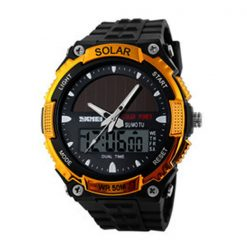 50M Waterproof Dual Mode Watch - Gold