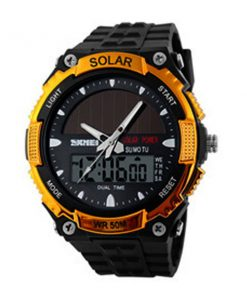 50M Waterproof Dual Mode Watch - Gold