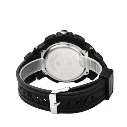 50M Waterproof Double Movement Sports Digital Watch - Gold