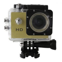 12 MP Photo Resolution 12 MP Image Sensor  WIFI Action Camera with 2 inch LCD Monitor - Gold