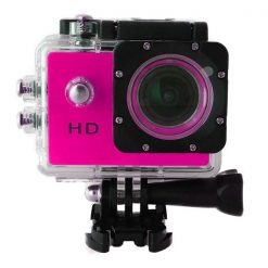 5MP Waterproof Sports Action Cam Camcorder - Pink