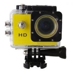 5MP Waterproof Sports Action Cam Camcorder - Yellow