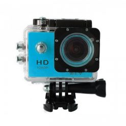 5 MP Photo Resolution 5 MP Image Sensor  WIFI Action Camera with 1.5 inch LCD Monitor - Blue