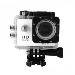 5 MP Photo Resolution 5 MP Image Sensor  WIFI Action Camera with 1.5 inch LCD Monitor - White
