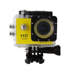 5 MP Photo Resolution 5 MP Image Sensor  WIFI Action Camera with 1.5 inch LCD Monitor - Yellow