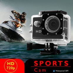 5 MP Photo Resolution 5 MP Image Sensor Action Camera with 2 inch LCD Monitor - Black