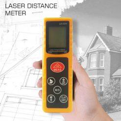 60 Meters Portable Laser Distance Meter - Yellow