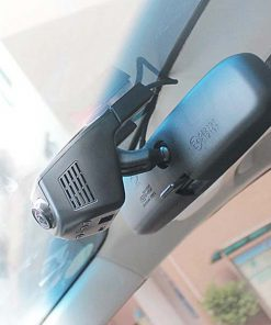 Dual Wifi Camera Car CCTV Dashcam With AV Out - Black