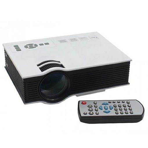 800 Lumens LED Projector With Built In VGA Port Multimedia Projector - White