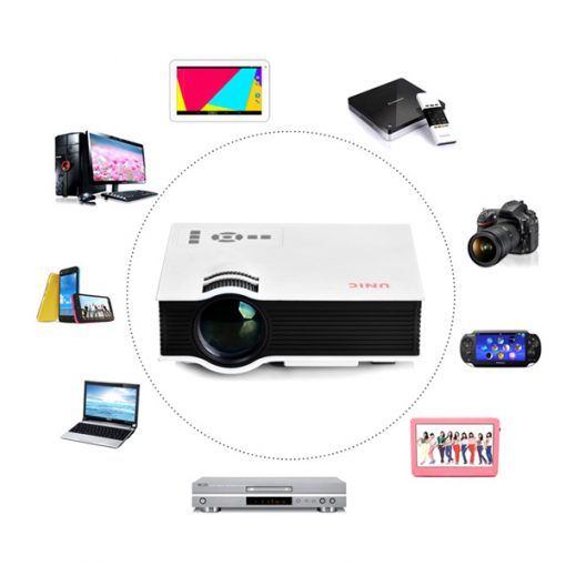 800 Lumens LED Projector With Built In Multimedia projector - White