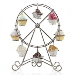 8 Cup Metal Rotating Ferris Wheel Cupcake Stand