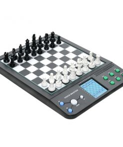 8 in 1 Voice Master Talking Chess Computer Set - Black