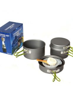 8 Piece Outdoor Camping Cookware - Gray
