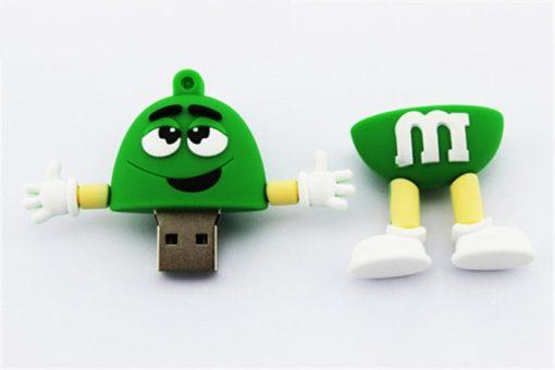 8GB M & M Beans Flash Drive - Green