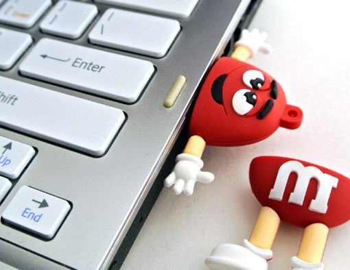 8GB M & M Beans Flash Drive - Red
