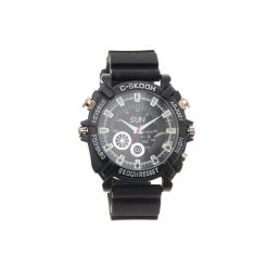 8GB Full HD 1080p Water Resistant Camera Watch with Night Vision - Black