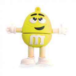 8GB M & M Beans Flash Drive - Yellow