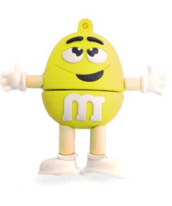 8GB M & M Beans Flash Drive - Yellow