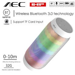 AEC Bluetooth Speaker With NFC MP3 And FM Radio - White