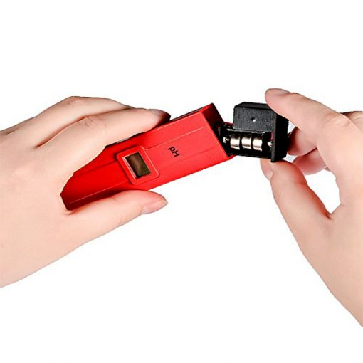 LCD Digital Pen Shape PH Meter With ATC - Red