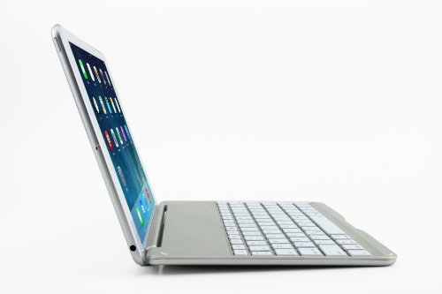 F9 Ultra-thin Aluminum Keyboard Case For iPad Air - White