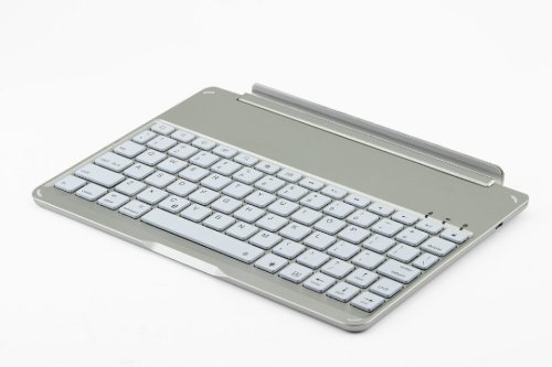 F9 Ultra-thin Aluminum Keyboard Case For iPad Air - White