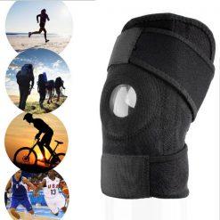 Adjustable Knee Support Pad - Black