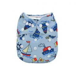 Adjustable Washable  Diaper - Blue