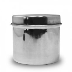 8cm Stainless Steel Cotton Container - Silver