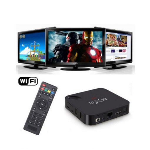 Android 4.4 Smart TV Box Quadcore KitKat Octacore Mali 450 Multimedia Player With Wifi - Black