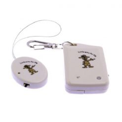 Anti Lost  Keychain Alarm Reminder Security - White