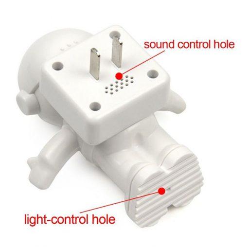 Astro Light 220v Sound and Light Sensor LED Night Light - White