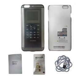 Auper iPhone 6 Plus 2G Mobile Phone Back Cover With Dual Sim Slot 1600 mah Battery - Silver