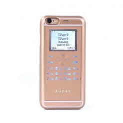 Auper iPhone 6 2G Mobile Phone Back Cover With Dual Sim Slot 1600 mah Battery - Gold