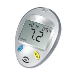 Digital Blood Glucose Meter With Voice - Silver