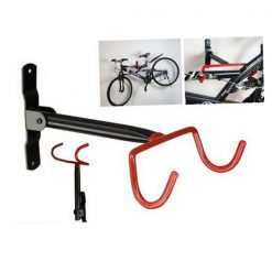 Bicycle Horizontal Wall Mount Storage Rack - Red
