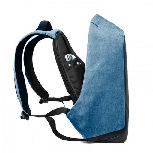 Oxford Travel Laptop Backpack With USB Output Socket For Powerbank - Blue
