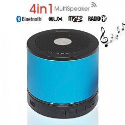 AEC BQ-606 Mini Bluetooth Speaker with FM And Micro SD MP3 Player – Blue