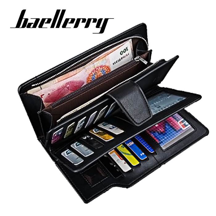b7cc7777396 Baellerry Leather Wallet with Coin Purse - Black