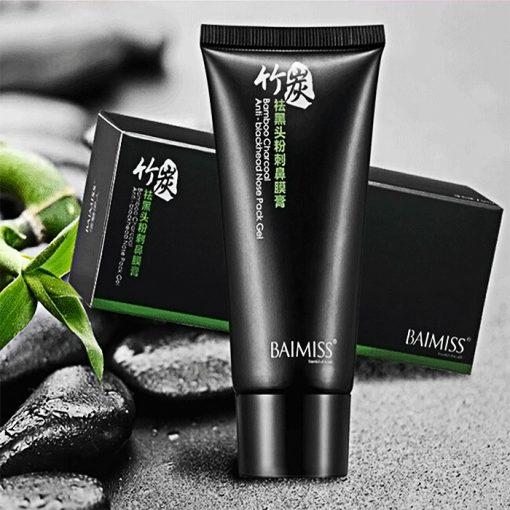 Baimiss Bamboo Charcoal Anti-Blackhead Nose Pack Gel - Black