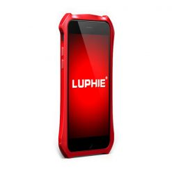 Batman Aluminum Bumper Metal With Leather Back For Iphone 6s - Red