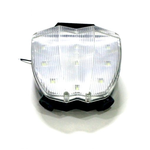 Bicycle Laser Tail Light Love You Star - White