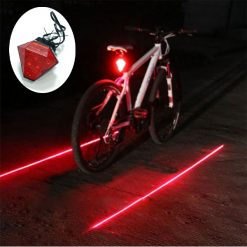 Bicycle Diamond Laser Tail Light Love You Star - Red
