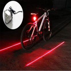 Bicycle Diamond Laser Tail Light Love You Star - White