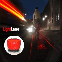 Bicycle Laser Tail Light Love You Star - Red