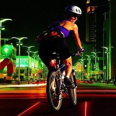 Bicycle Wireless Brake Laser Tail Lights