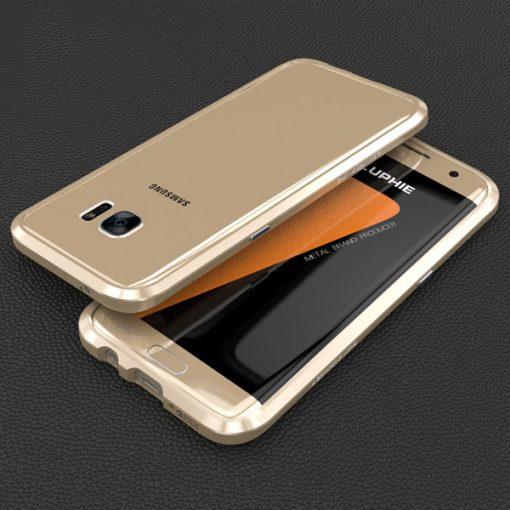 Blade Sword Aluminum Metal Bumper For Samsung Galaxy S7 Edge - Gold