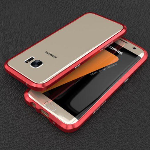 Blade Sword Aluminum Metal Bumper For Samsung Galaxy S7 Edge - Red